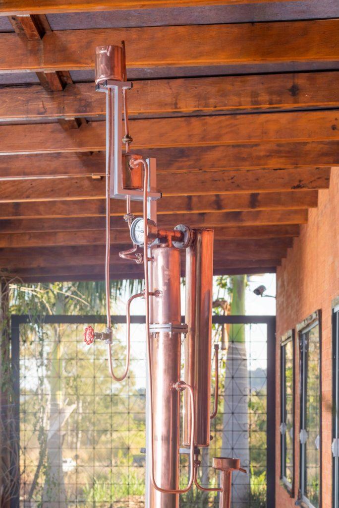 Coluna de destilação da Companheira