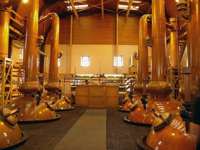 destilação de whisky