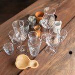 copos de degustação de cachaça